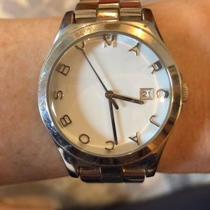 MARC BY MARC JACOBS SIlver White Face Watch